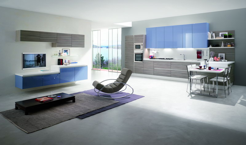 Cucina tekna flat casa del mobile rimini - Living e cucina ...