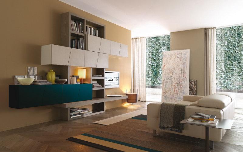 Soggiorno horizon componibile casa del mobile rimini for Soggiorni moderni in pietra