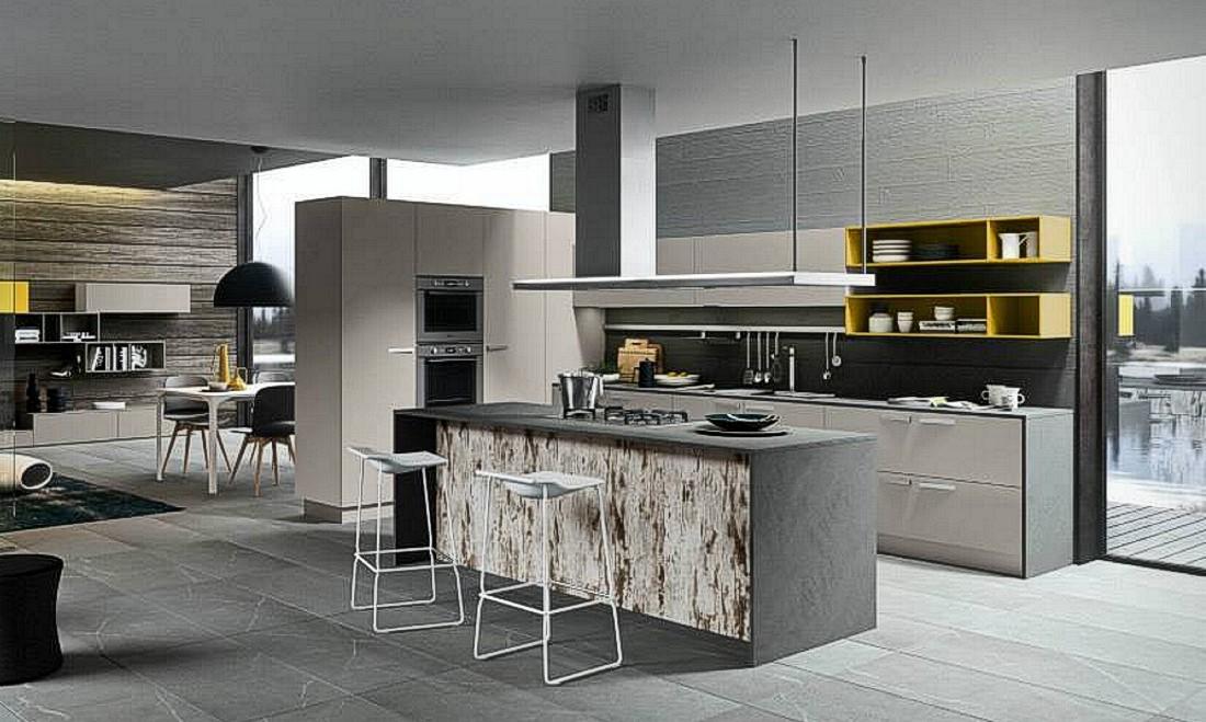 Cucina handle casa del mobile di fratti rimini for Idee per arredare cucina soggiorno