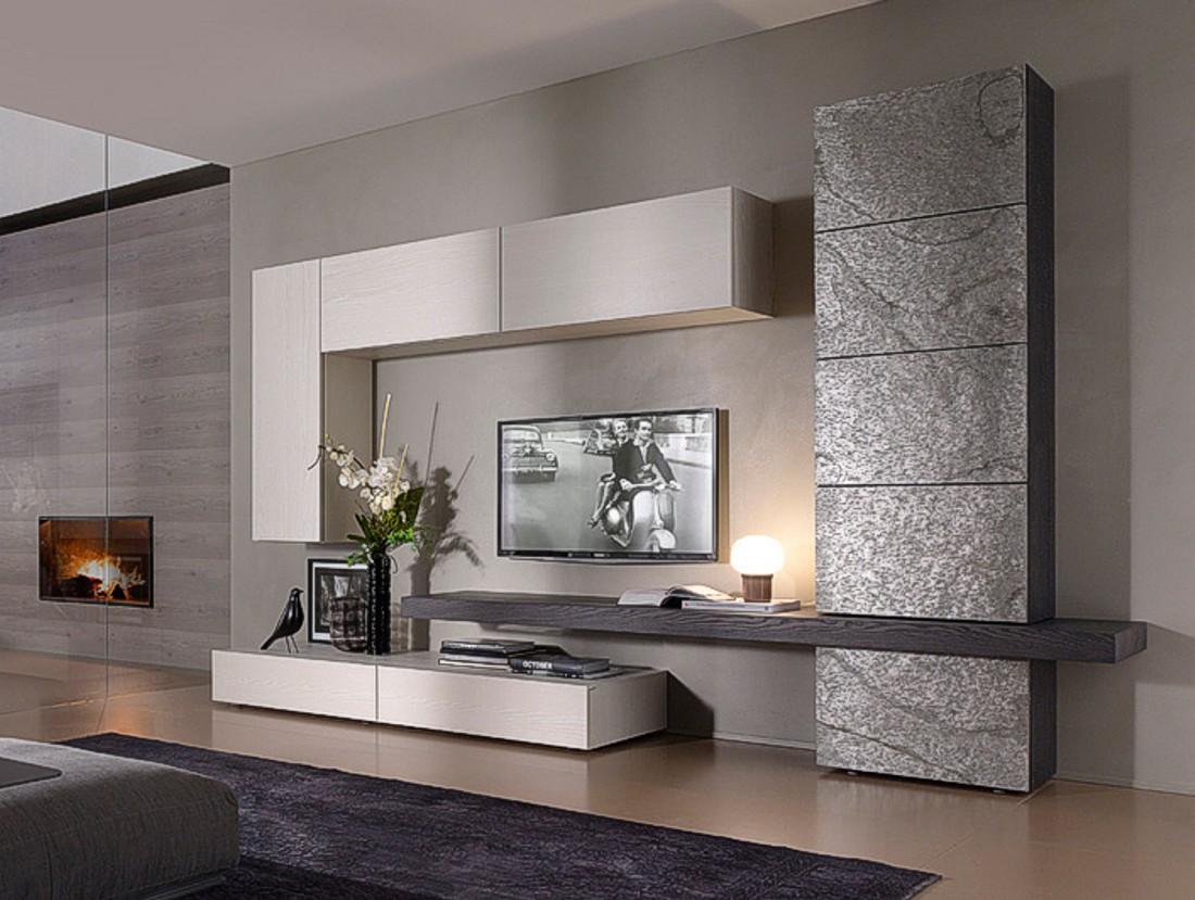 Soggiorno horizon componibile casa del mobile di fratti for Immagini mobili soggiorno moderni